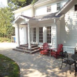 rear elevation, back elevation, custom patio
