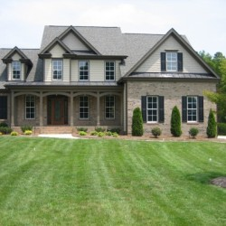 front elevation, custom home, new home