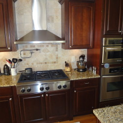 Custom home, kitchen, stainless appliances