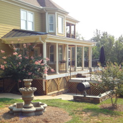 porch, columns, covered patio