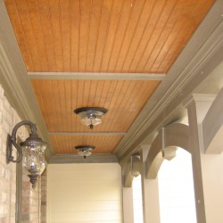Front porch, arches, ceiling