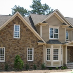 Front elevation, custom new home