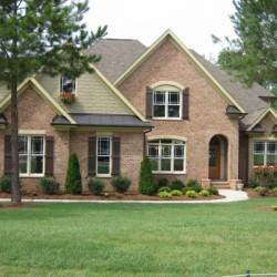 front elevation, side garage, custom home