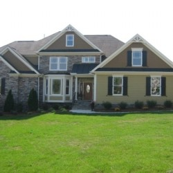 front elevation, custom home, new home construction