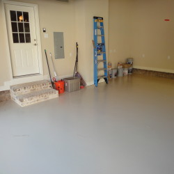 Custom Garage and painted floor