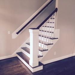Custom Stair Railing - side view