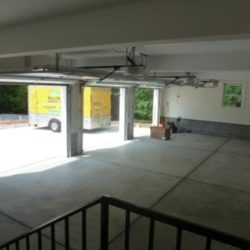 Interior of 3-car garage