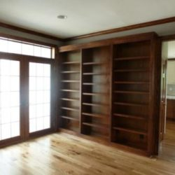 custom bookshelves and trim word