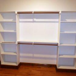 Custom closet with shelves
