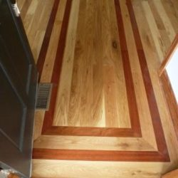 Customer hardwood floor