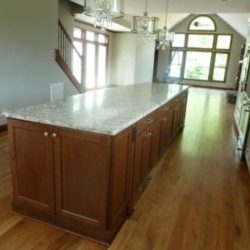 Kitchen with custom extra large center island
